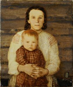 Портрет мамы с бабушкой