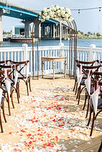There is also a large deck overlooking the Santa Rosa Sound where the ceremony can take place.