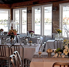 Tables and chairs for as many as 150 guests are included in the rental agreement.
