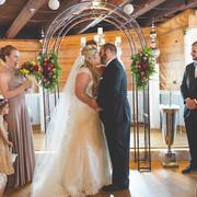 indoor wedding with stage