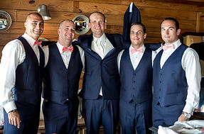 """The groom can prepare in the """"Groom's Retreat"""" which is equipped with a bar and flat screen tv"""