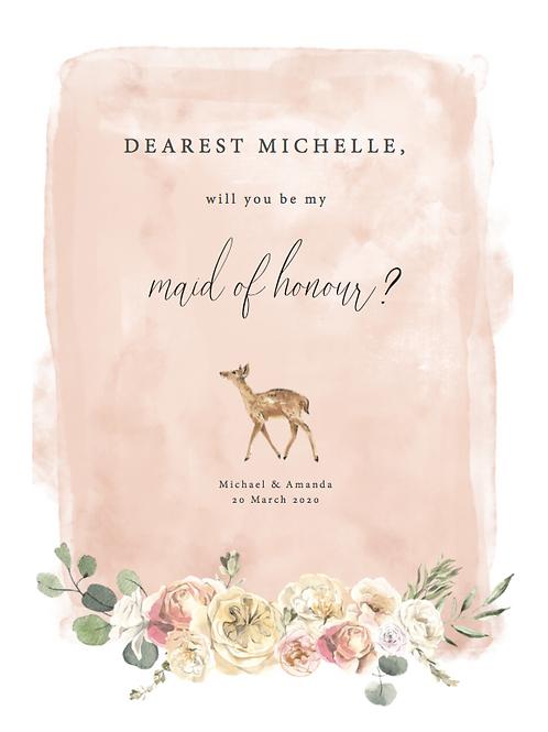 Naturescape Bridal Party Invitations