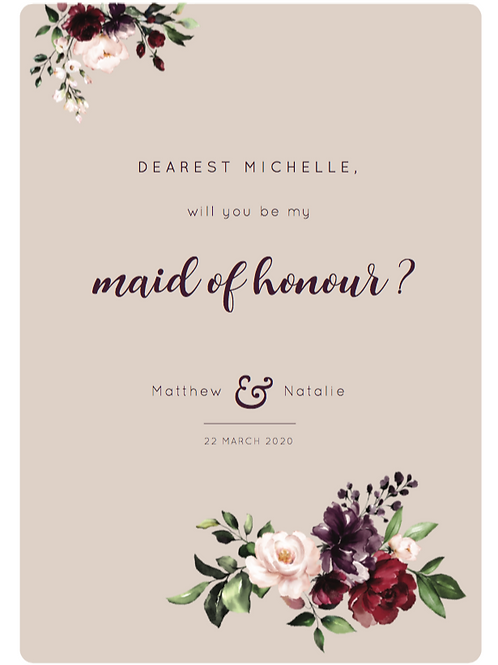 Jewel Bridal Party Invitations