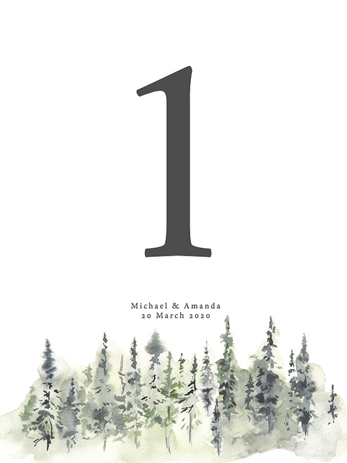 Naturescape Table Numbers