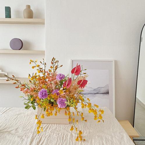 Cotton Candy Flower Box