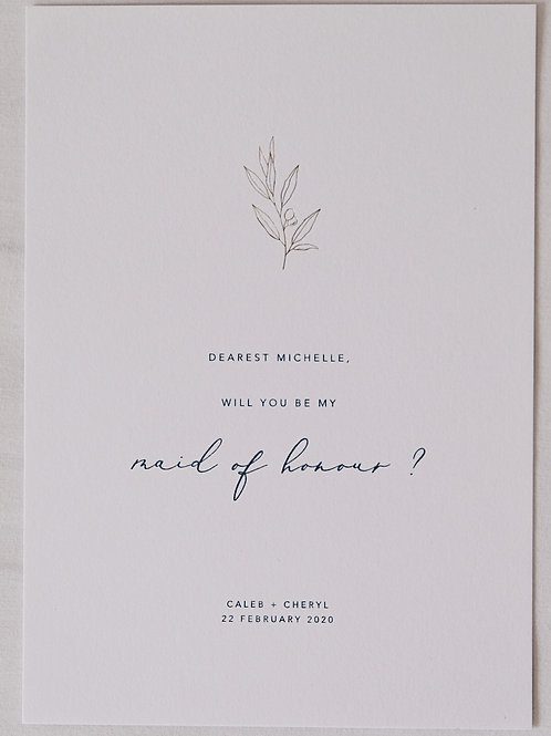 Olive Bridal Party Invitations