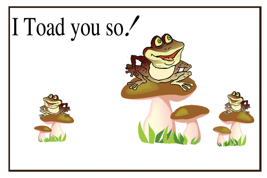 I Toad You So Card