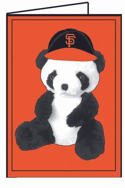 SF Giants Panda-Orange BG