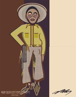 William (Bill) Pickett -Yellow Shirt