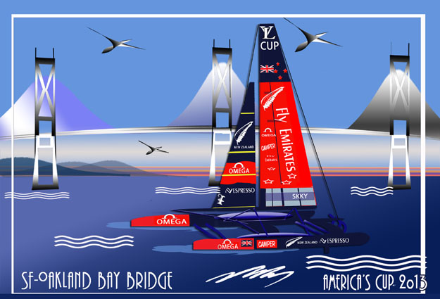 America's Cup-New Zealand Catamaran