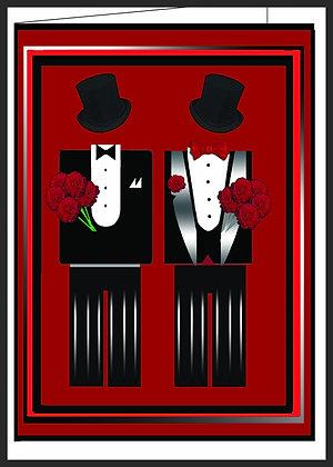 Male Unity/Rainbow Wedding Cakes/Tuxedo Males