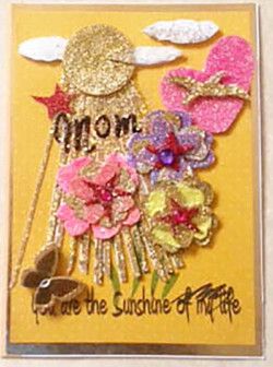 Mother's Day Card Gold