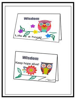 Humor Card Wisdom Owl