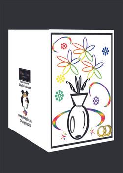 Gay Celebratory Card Floral Vase