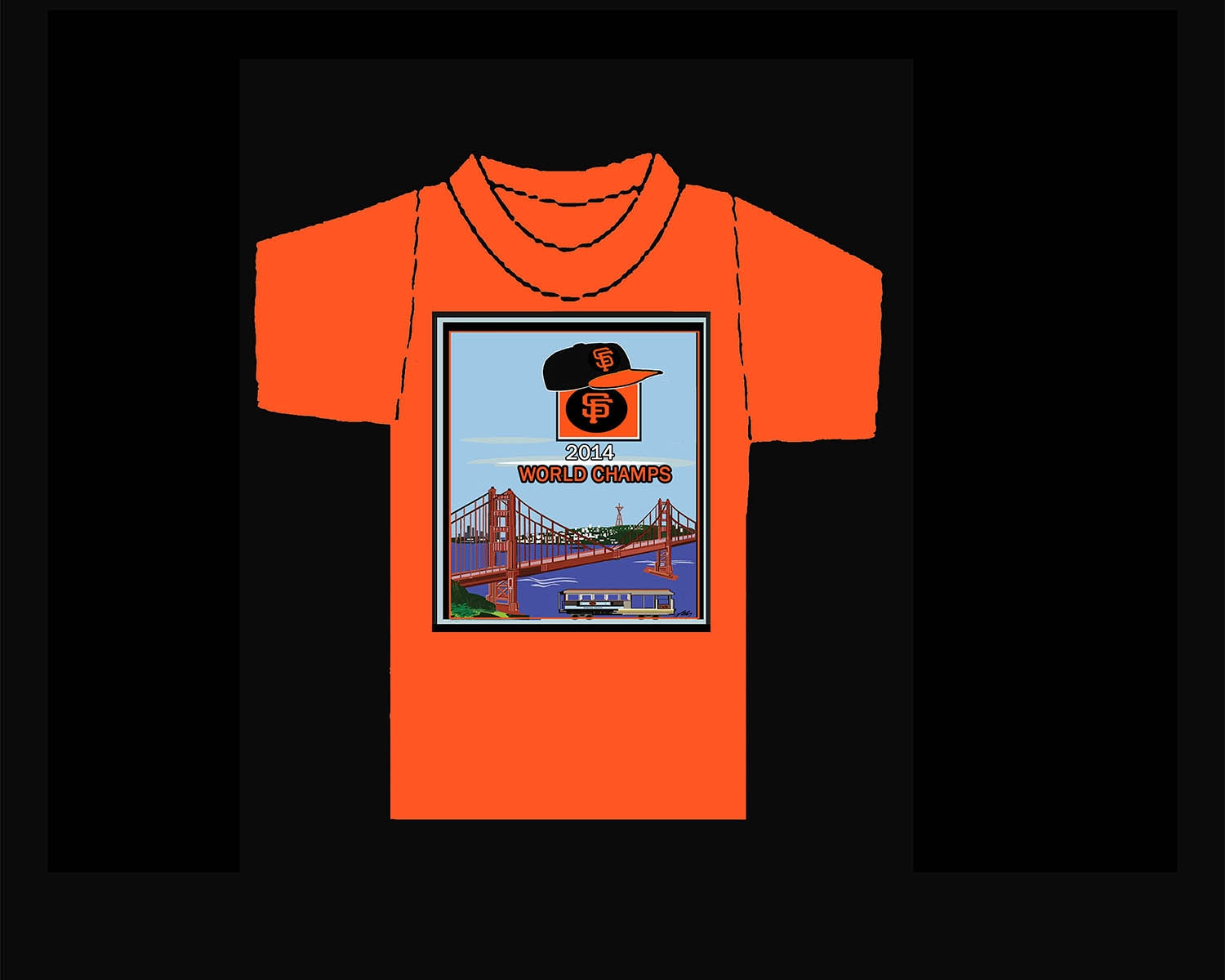 SF Giants World Champs T-Shirt.