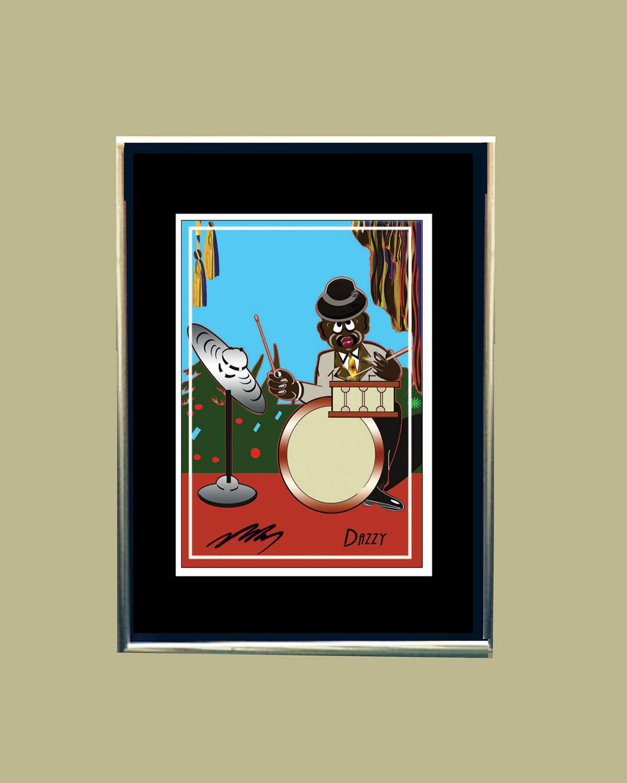 The Drummer-Dazzy (Framed)