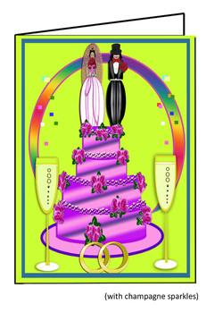 Female Celebrate Card with c sparkle
