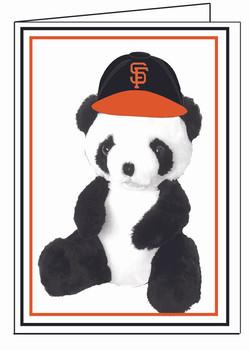 SF Giants Panda- Mascot-White BG
