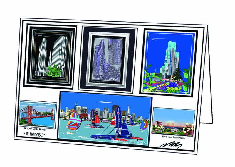 SF Landmarks Card