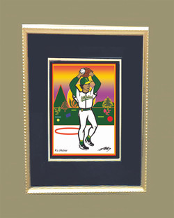 A's Pitcher (Matted and Framed)
