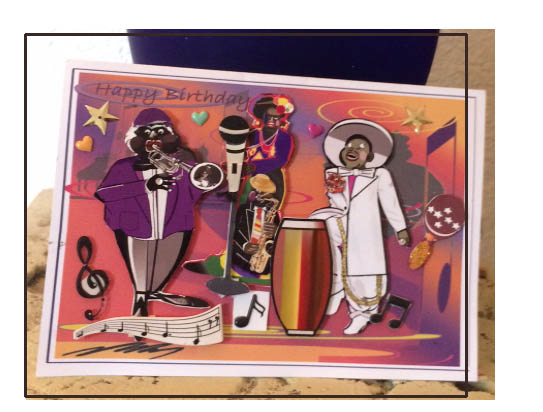 Jazz Ensemble Birthday card.