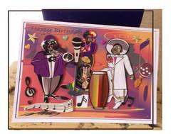 Jazz Ensemble Birthday card.