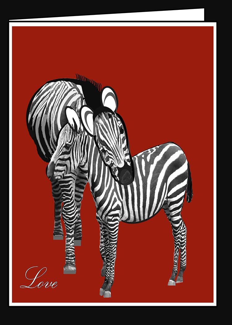 Zebra Love Valentine Card
