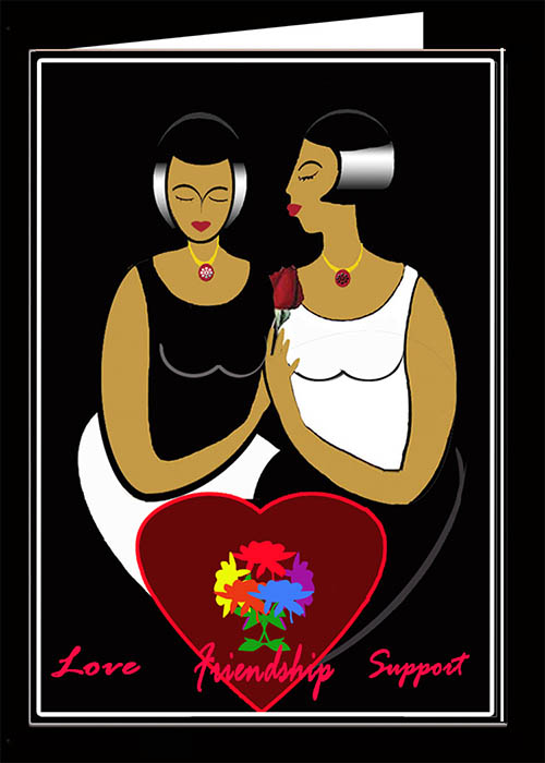 Love,  Friendship and Support Card