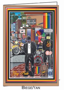 Gay Pride Card-SF Castro Scene