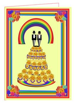 Gay  Wedding Cake-Yellow