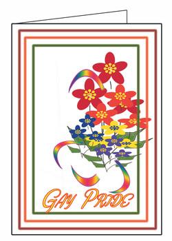 Gay Pride Card -Floral Array