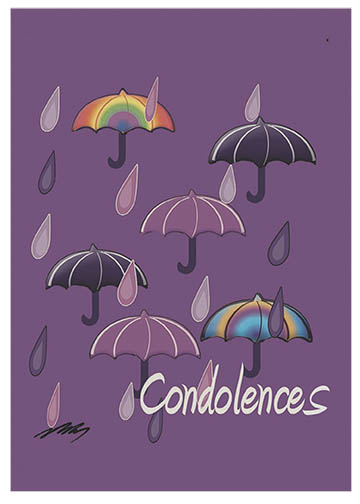 Purple Rain  Sympathy Card