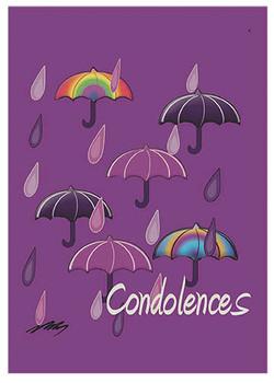 Purple Rain  Sympathy Card