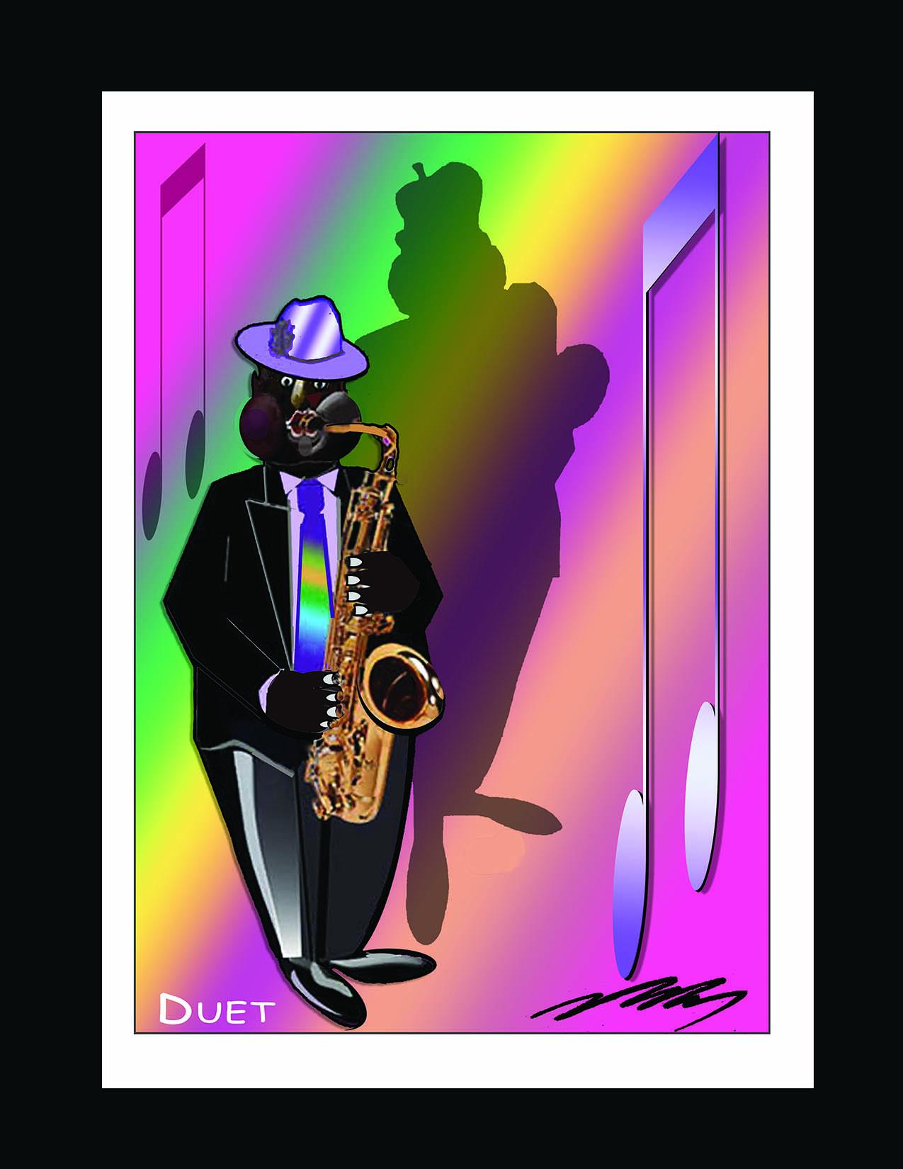New Saxophone Silhouette