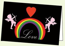 Cupid, Rainbow and Heart