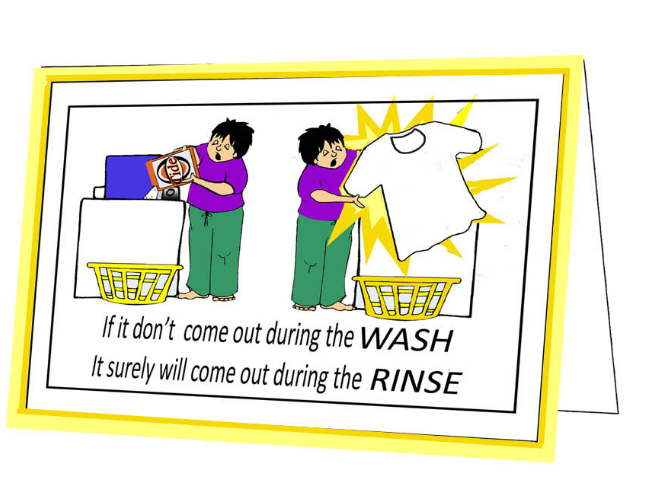 Wash Cycle-Expression card