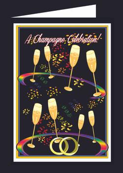 Champagne Glasses Celebration Card