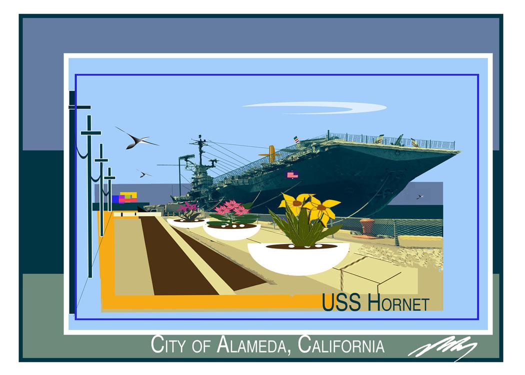 USS Hornet Card