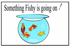 Something Fishy is Going On Card