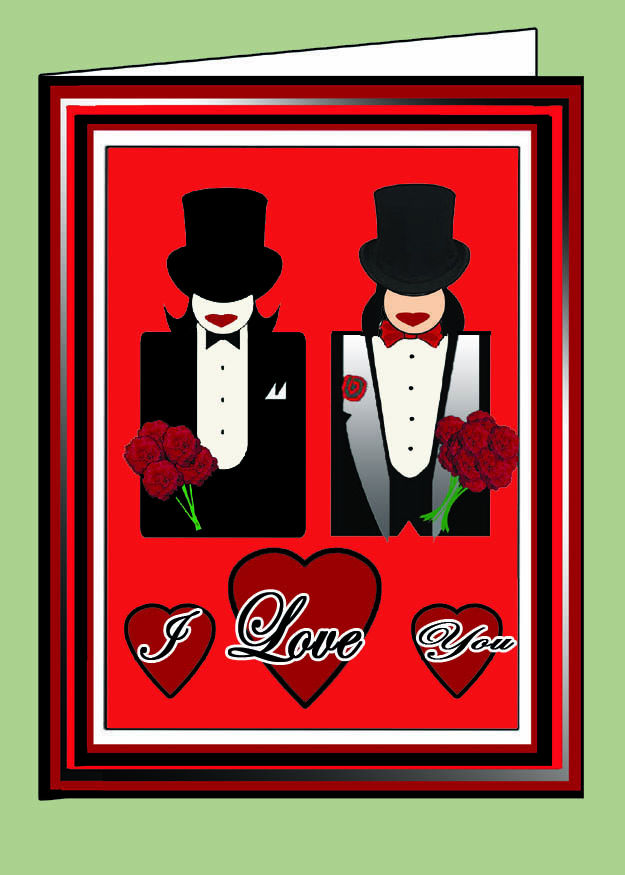 Tux Brides I Love You Valentine Card