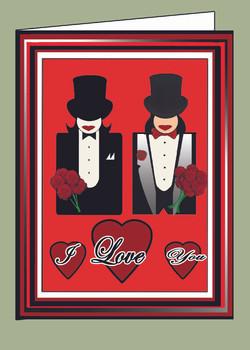Tux Brides I Love You Valentine Card