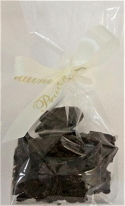 Mandelsplitter mit Cranberries in dunkler Schokolade 100 g