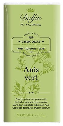 Dolfin Zartbitterschokolade mit grünem Anis - 70g