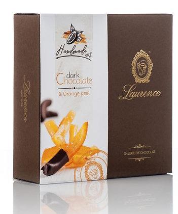 Orangenstäbchen in dunkler Schokolade