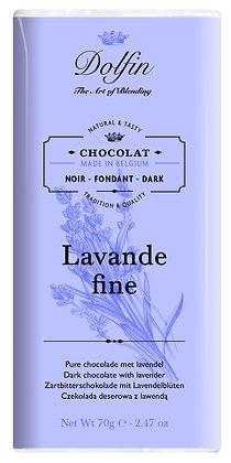 Dolfin Zartbitterschokolade mit Lavendelblüten - 70g