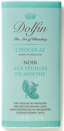 Dolfin Zartbitterschokolade mit Minzeblättern - 70g