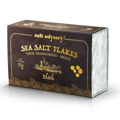 Salt Odyssey Meersalzpyramiden mit  Tintenfischtinte  -75g