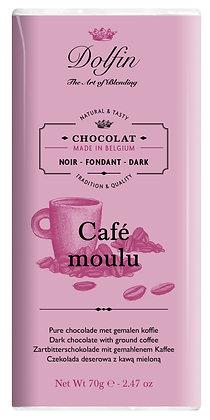Dolfin Zartbitterschokolade mit gemahlenen Kaffee - 70g