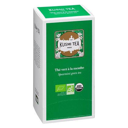 Kusmi Tea Paris, Grüner Tee MINZE BIO, 25 Teebeutel