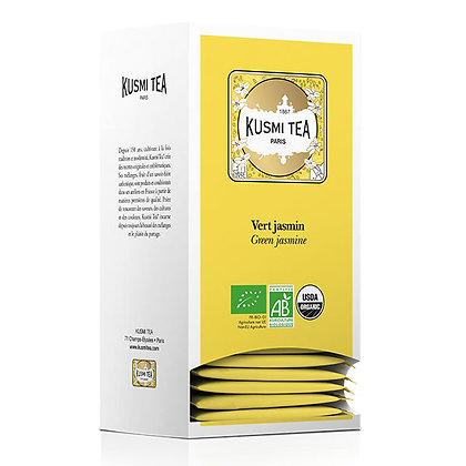 Kusmi Tea Paris, Grüner Tee mit JASMIN BIO, 25 Teebeutel